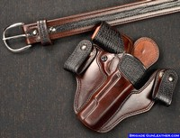 Custom IWB Gun Holster with exotic Shark Trim with matching gun belt