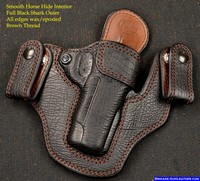 "Full Shark Skin Hide 1911 Gun Holsters for a Kimber 4"" 1911 Pistol"