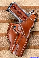 FBI Leather Gun Holster Belt Holster Style for Springfield 1911 Professional Pistol