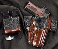 Custom Holster for 1911 Pistol with Exotic Shark Skin
