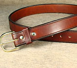 Shop for leather gun holster belts and thick leather belts for concealed carry use