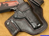 "Full Shark Skin Leather Gun Holster for a 4.25"" 1911 pistol"
