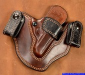 Black Ostrich Quill Trim Gun Holsters for Walther PPK