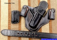 Black Crocodile gun holsters and exotic belt