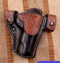 Belt Holsters Exotic Ostrich Leather