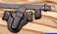 Leather Holsters Exotic Shark Leather